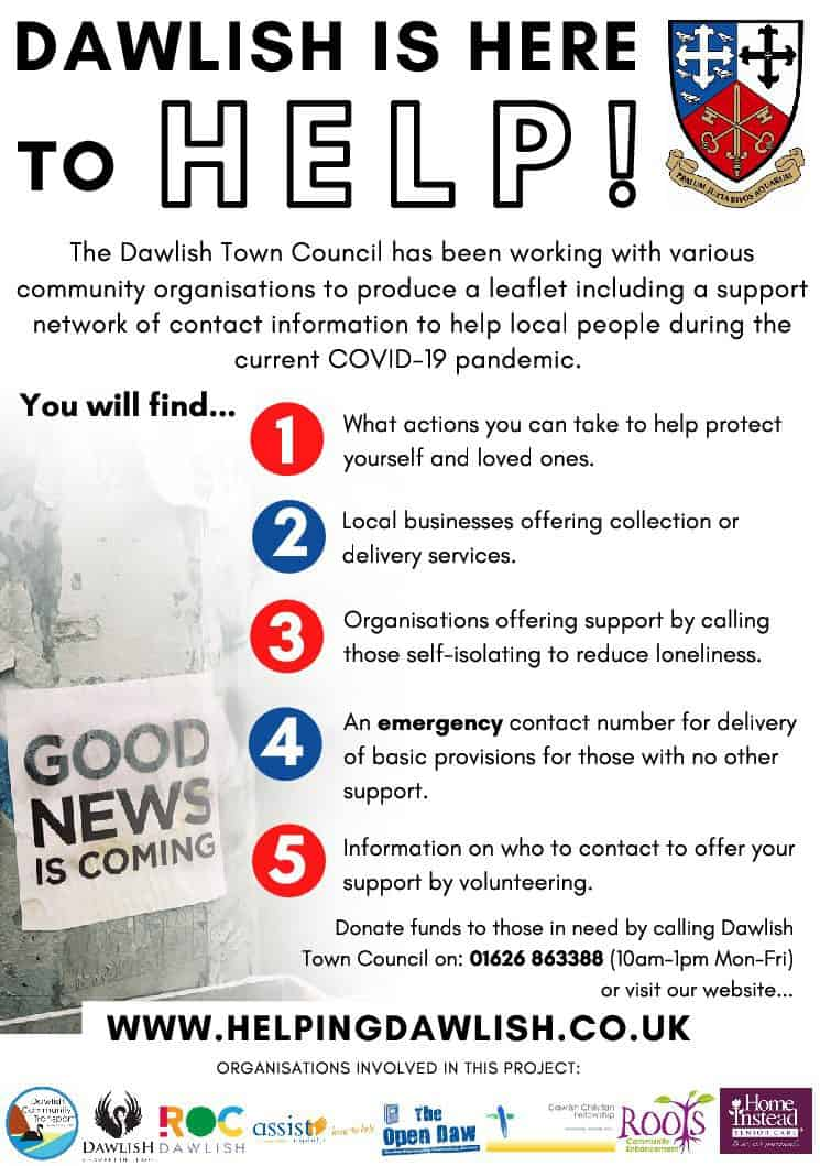 Helping Dawlish poster – 2nd April 2020