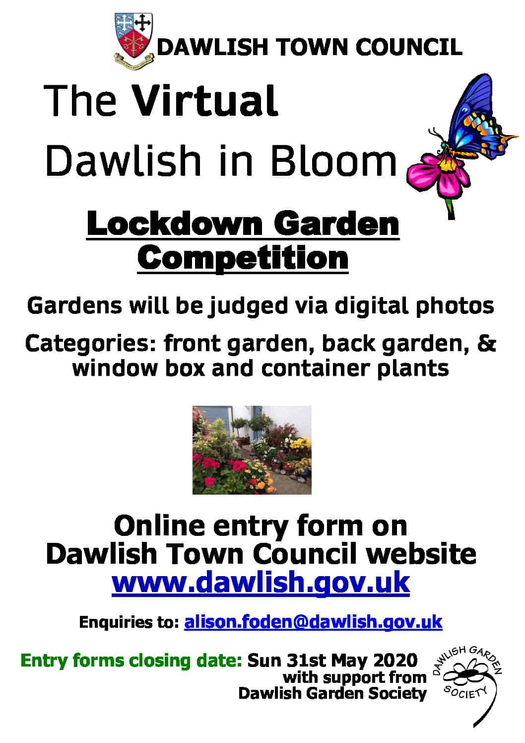 The virtual Dawlish in Bloom 2020 – lockdown garden competition!